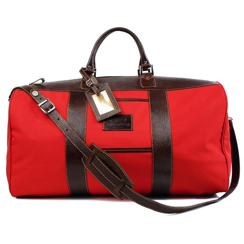 Equestrian Tradition Red & Havana Brown Leather Bag