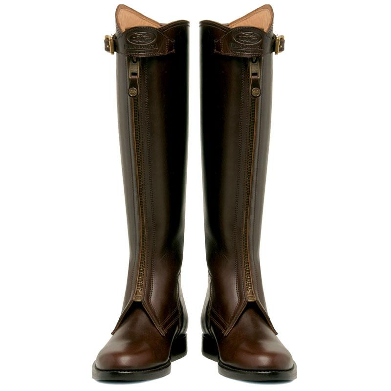 Dark Brown Polo Boots with zipper for men
