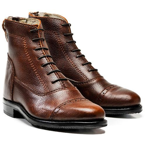 All-purpose Short Boots with laces and zipper