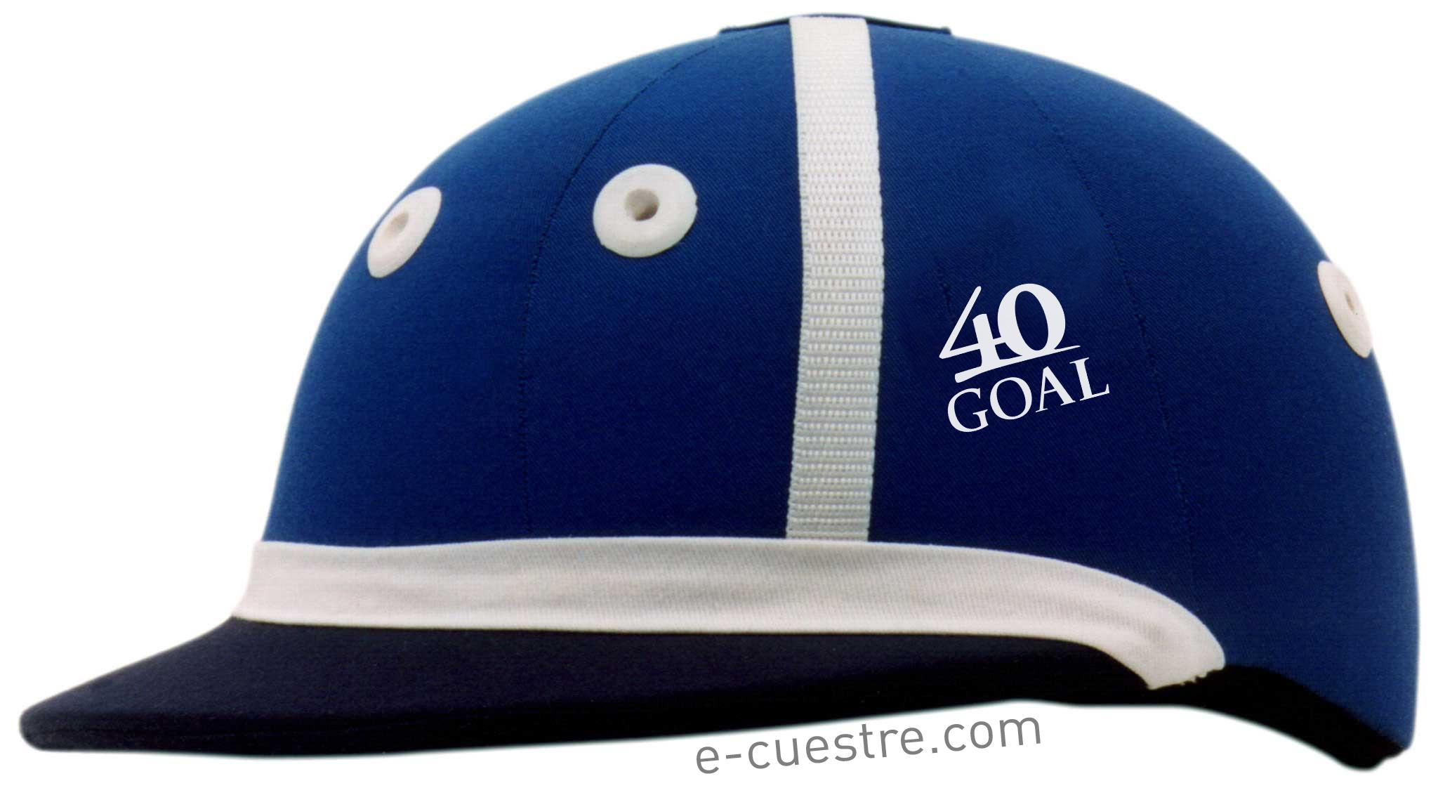 Royal Blue and Black 40GOAL Polo Helmet