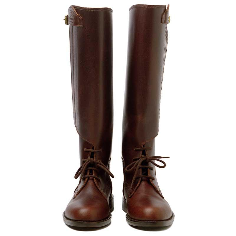 Havana Brown Polo boots with velcro