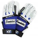 Pair of royal blue and white gloves