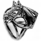 Horse head scarf ring