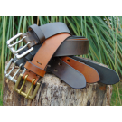 Promotional Kit of 3 Premium Belts in Brown, Brick Red and Black Leather