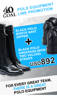40 GOAL Polo equipment line promotion