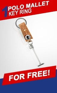 1 Polo Mallet Key Ring FOR FREE!