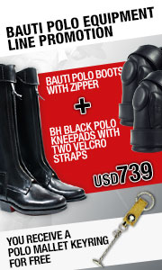 Bauti Polo Boots With Zipper + Polo Mallet Keyring = USD 739